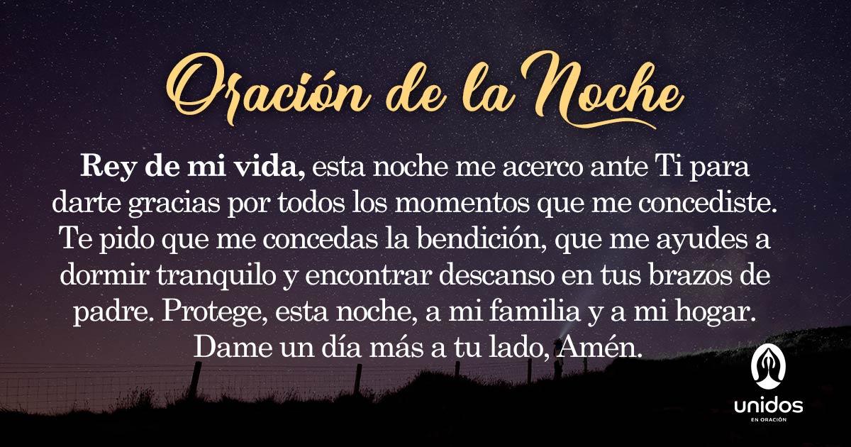 Oración de la noche para el 31 de Agosto