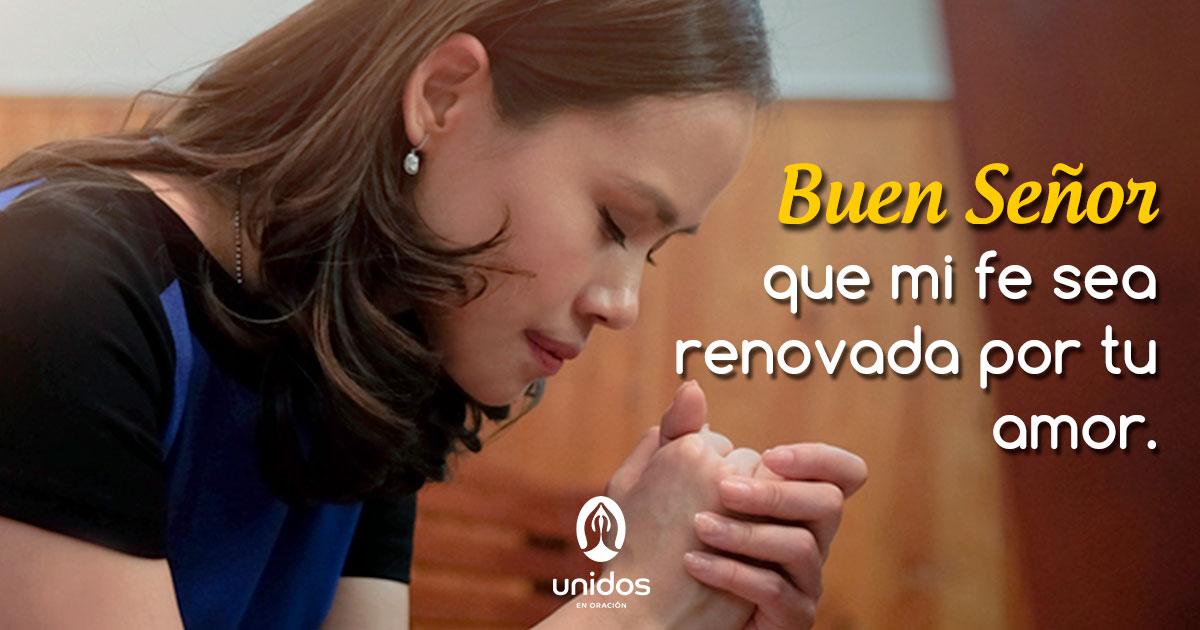 Oración para renovar la fe
