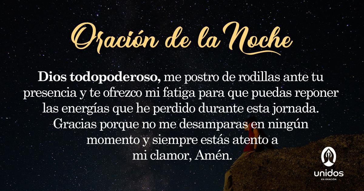 Oración de la noche para el 4 de Mayo