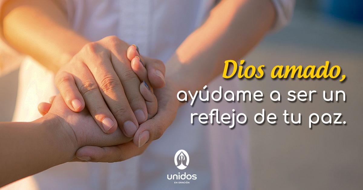 Oración para ser reflejo de tu paz