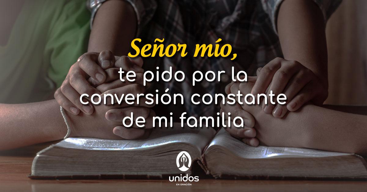 Oración por la conversión de mi familia