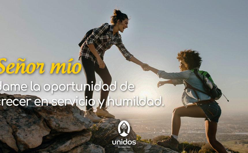 Oración para crecer en servicio y humildad