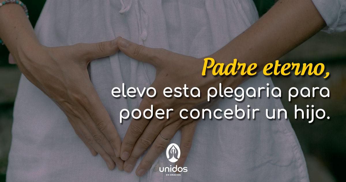 Oración para poder concebir un hijo