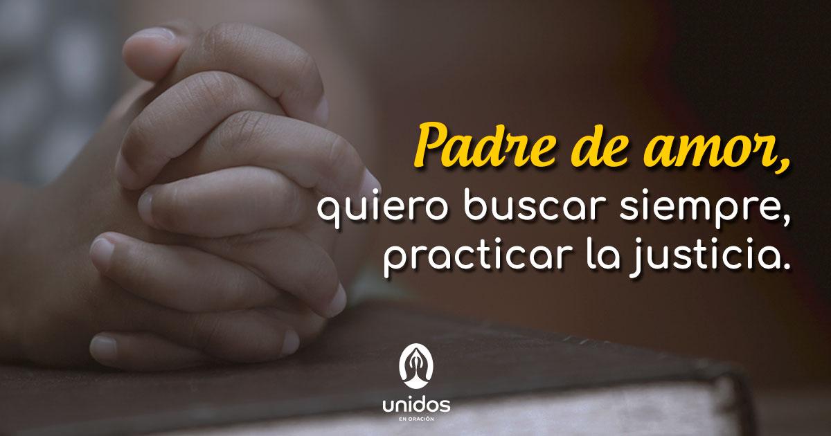 Oración para practicar la justicia