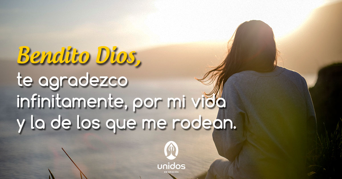 Oración para dar gracias a Dios por la vida
