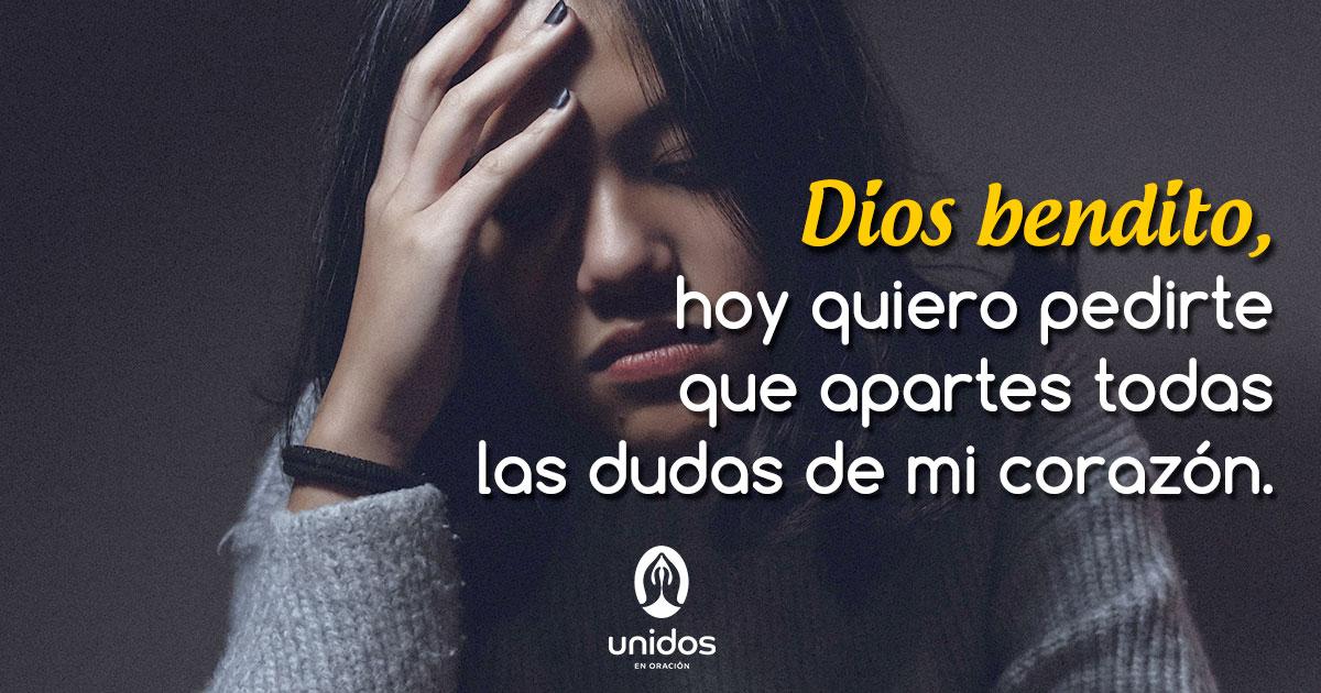 Oración para apartar las dudas