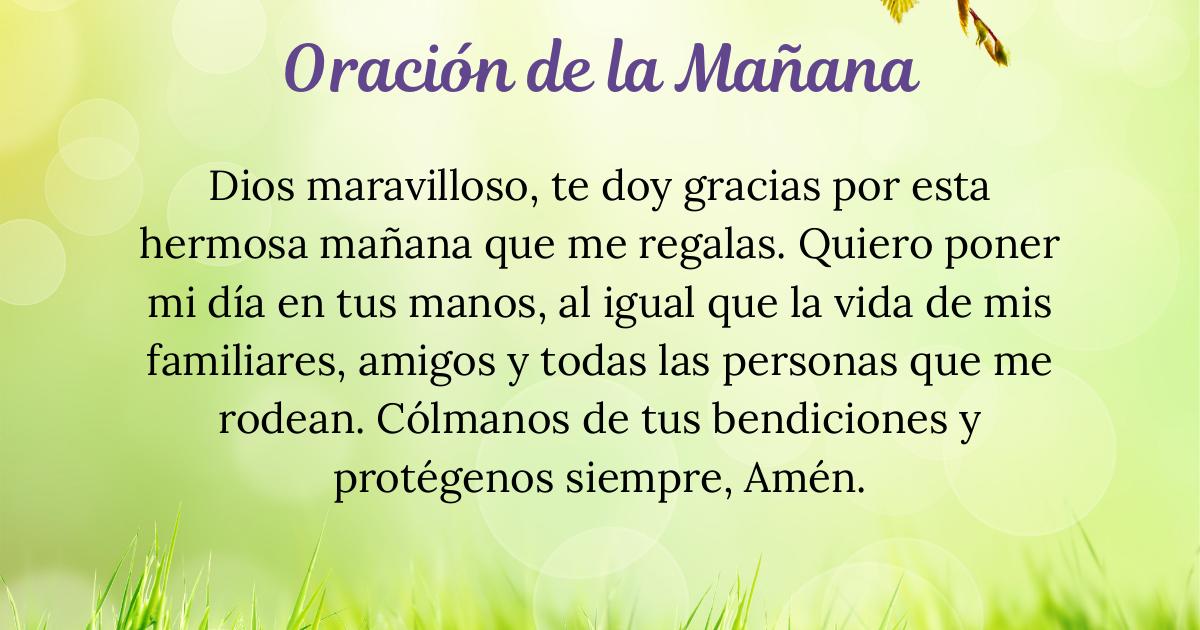 Oración de la mañana para el 18 de Octubre